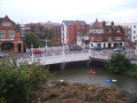 Bridge over the river Medway in Tonbridge