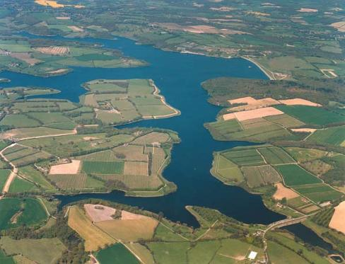 Bewl Water from the air