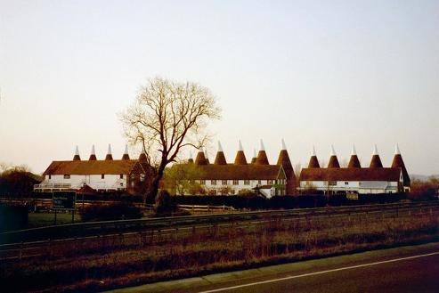 Oast Houses at the Hop farm, Paddock Wood.