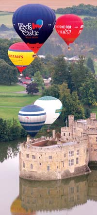 Ballons at Leeds Castle